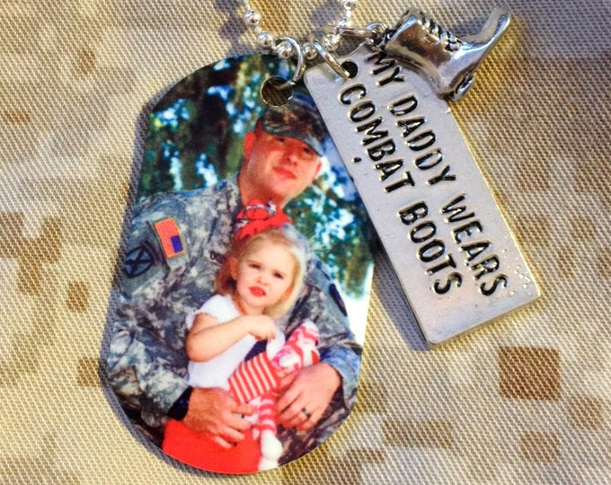 My Daddy Wears Combat Boots Dog Tag