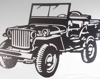 Plate teaches decorative WILLYS JEEP