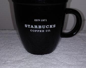 Starbucks black and white coffee mug