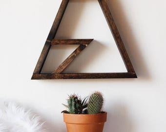 Modern single peak mountain shelf. Medium, Decor, Wood, Bathroom, kitchen, living room, bedroom, outdoors,