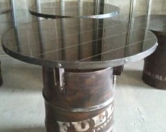 Delightful 55 Gallon Drum Industrial Pub Table #030 U2022 Industrial Style Furniture By  Industrial Evolution Furniture Co.