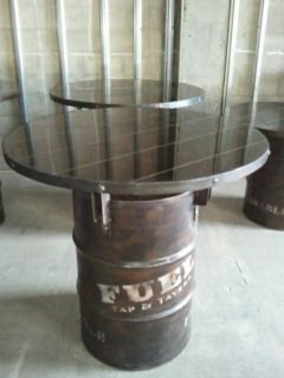 55 Gallon Drum Industrial Pub Table 030 Industrial Style