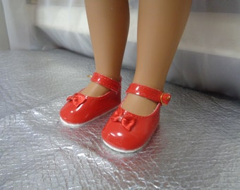 Red Patent Leather Doll Shoes-Shoes -Vintage Shoes-64 mm = 2.51 inches  for Sasha and Magic Attic Club
