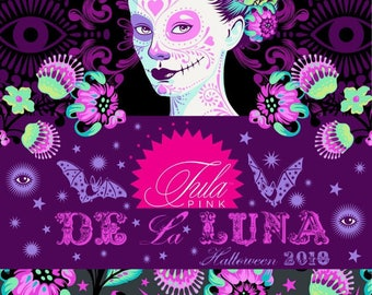 Tula Pink Fabric De La LUNA Pre Order June **15 PCT OFF** Collection- 1 yard Bundle of 18 Piece Halloween FreeSpirit - 100%  Cotton Bundle