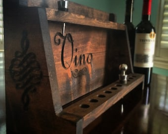 "Wine Stopper Display (Holds 20 wine bottle stoppers!) (16"" x 10"" x 6"") Vino, Trendy, Rustic, Vintage"