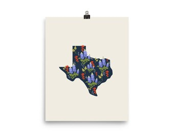 The Lone Star State of Wildflowers Poster