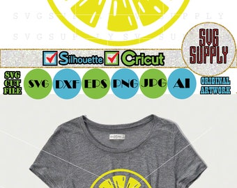 Lemon SVG, Lemon cut file vinyl decal for silhouette cameo cricut iron on transfer on mug shirt fabric design, clipart