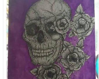 Skull canvas - purple