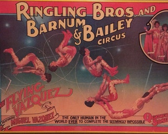 1980s Ringling Brothers Barnum & Bailey Circus Poster