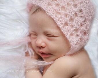 Newborn Mohair Bonnets