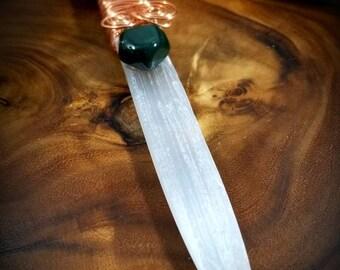 Selenite Bloodstone Knife