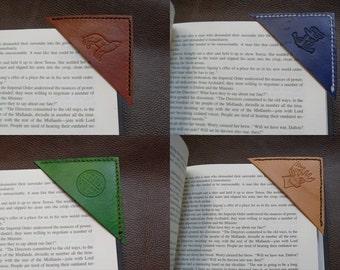 Leather Bookmark Corner Bookmark  Made in USA