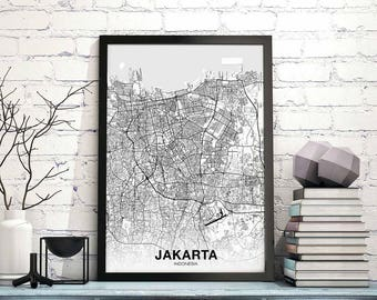Indonesia map | Etsy