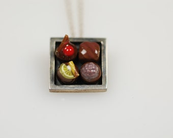 Chocolate Box Sterling Silver Necklace