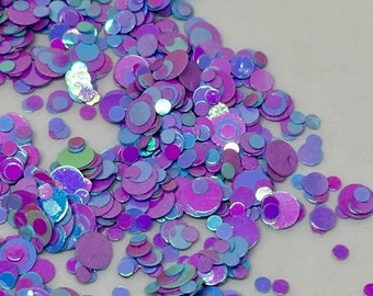Mixed Dot 25 - 5g solvent resistant nail glitter