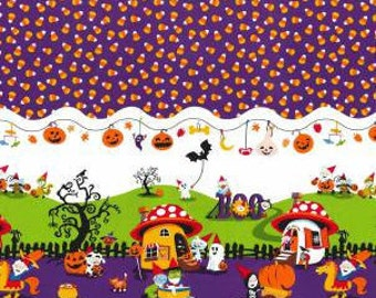 Border Nightmare in Gnomeville - Michael Miller - Cotton Woven fabric by the yard