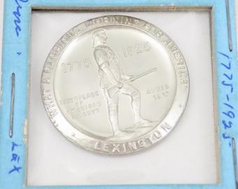 1925 Battle of Lexington, 150th Anniversary Token, Whitehead Hoag, Vintage Collectible