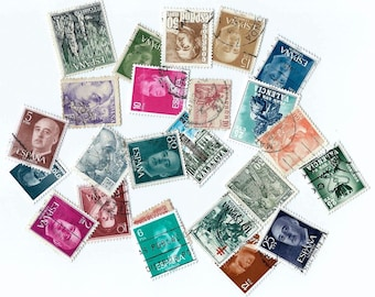 Vintage Spanish Postage Stamps - Scrapbooking, collage, altered art