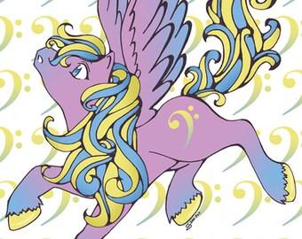 A4 Gloss Pony Prints - Choice - Clef, Arrow or Icy Pony