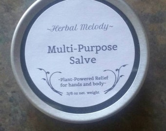 Multi-Purpose Salve infused with Chickweed, Plantain and Comfrey