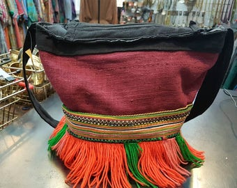 Hmong ethnic bag, boho bag, tribal bag