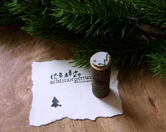 """Mini Rubber Stamp """"fir tree"""""""