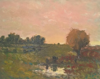 Original Landscape oil painting AUTUMN TREES by Stephen More Fontaine