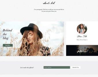 Wix Website, Blog Template, Website, Custom Wix Blog Template, Blog Theme, Wix Template, Website Design, Wix Site, Wix Shop, Boho Wix Theme