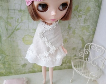 blythe dress set for pullip Neo blythe licca dal shibajuku hand embroidery outfit doll clothing 1/6 scale vintage style
