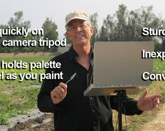 Digital Plans for Tom Brown's PLEIN AIR POCHADE Box Design – An Inexpensive, Sturdy, Easy-To-Use Outdoor Paint Box