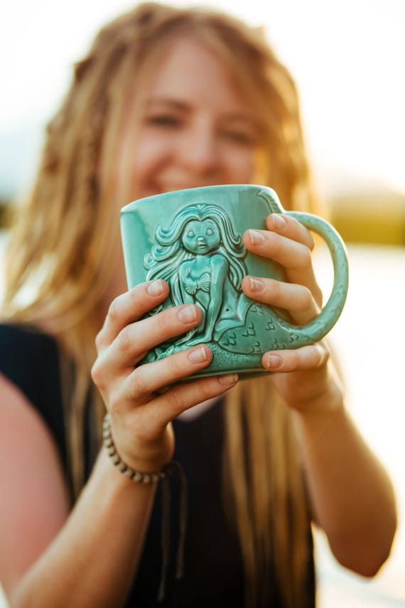 Mermaid Coffee Mug | Handmade Decor Ideas For Decorating A Beach House