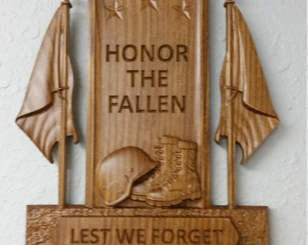 Military Wood Plaque