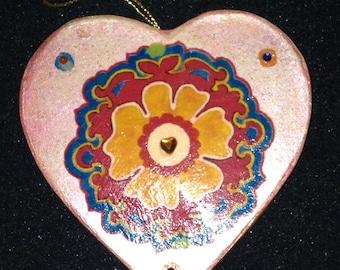 Heart Ornament OOAK