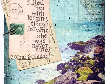 "Day 10 - 11""x14"" paper print - Cornelia Funke ocean quote 30x30 project"