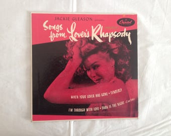 Capitol Records 45 RPM Jackie Gleason Presents Songs from Lover's Rhapsody 1950s