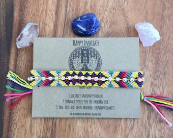 Rhinestone friendship bracelet (sale!)