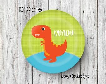 Dinosaur Plate Personalized Plate Personalized Melamine Plate Kids Dinner Plate Toddler dinnerware  sc 1 st  Etsy & Dinosaur dinnerware | Etsy