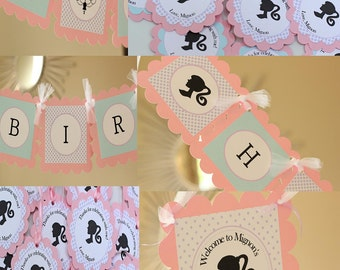 Silhouette birthday PARTY PACK - Light Pink