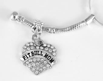 Pit Bull Mom Jewelry Pitbull Keychain Dog Canine Pit bull jewelry Pitbull lovers gift  Terrier  European Style