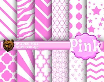 pink digital paper, pink background, pink scrapbook paper