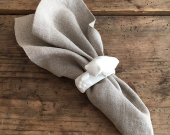 Natural Linen Napkins, Set of Six natural taupe cloth napkins, linen napkins, cloth dining napkins, grey brown napkins, eco friendly wedding
