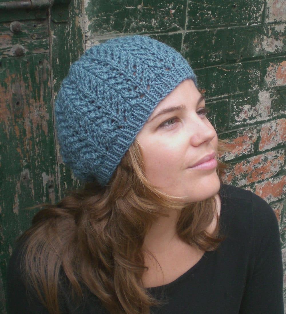 Knitting PATTERN for women Slouchy Hat Pattern Knit Beanie