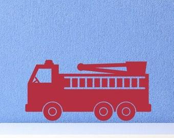 Fire truck vinyl wall decal