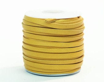 Gold Deerskin Lacing - (1) 50 foot spool, 3/16th inch lace (297-316x50GD)