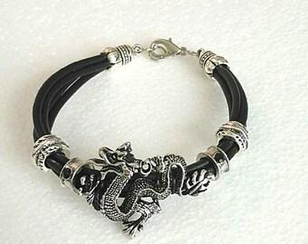 Beautiful adjustable rope Dragon, punk, Gothic bracelet