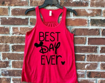 Disney Best Day Ever, Best Day Ever, Mickey Best Day Ever, Best Day Ever Tank, Disney Tank, Disney Family Shirts, Run Disney, Disney Tank