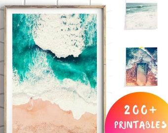 Minimalist Beach Print, Ocean Print, Sea Print, Ocean Waves Print, Minimalist Coastal Print, Minimalist Room Art, Sea Printable art