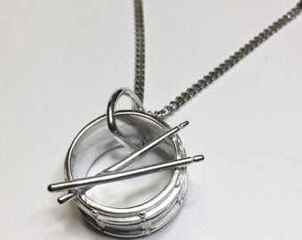 Snare Drum Necklace ON SALE 25% OFF