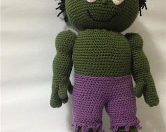 Crocheted Stuffed Superhero Doll, Children's Stuffed Superhero,