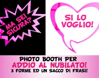 Photo booth per addio al nubilato